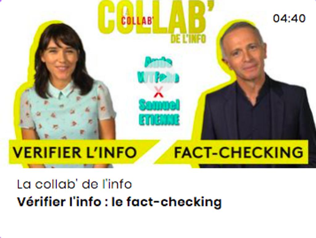 Vérifier l'info : le fact-checking |